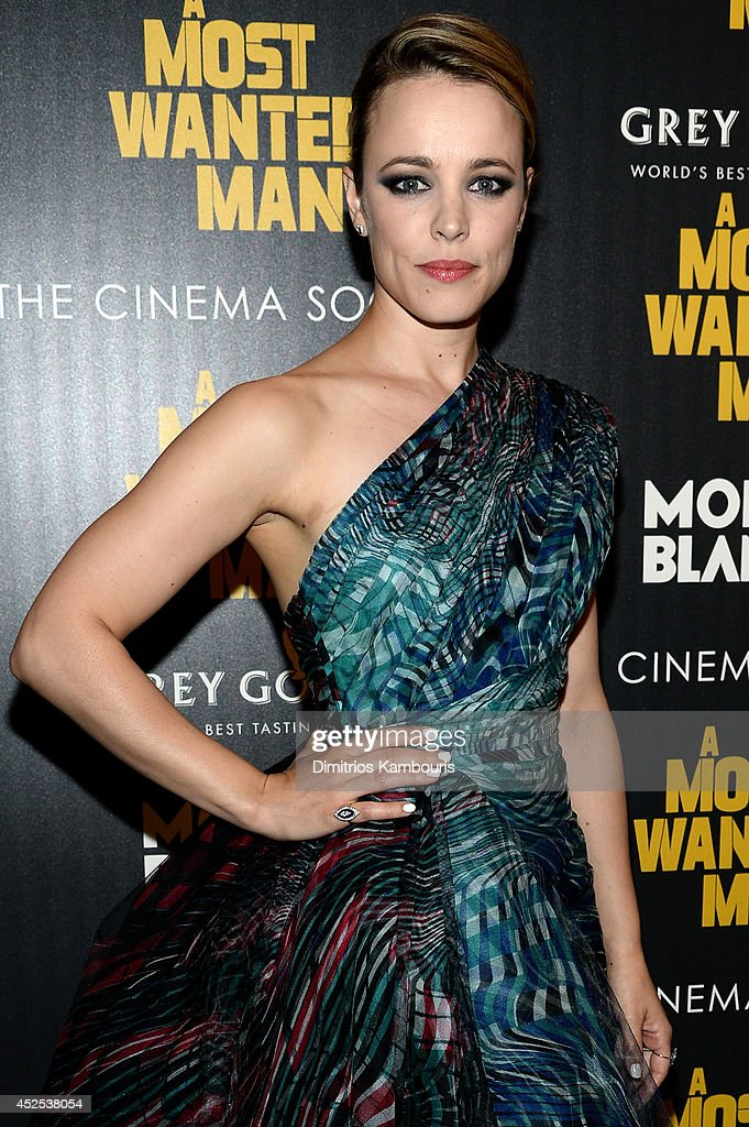 Actress Rachel McAdams attends Lionsgate and Roadside Attraction's premiere of 'A Most Wanted Man' hosted by The Cinema Society and Montblanc at the Museum of Modern Art on July 22, 2014 in New York City.