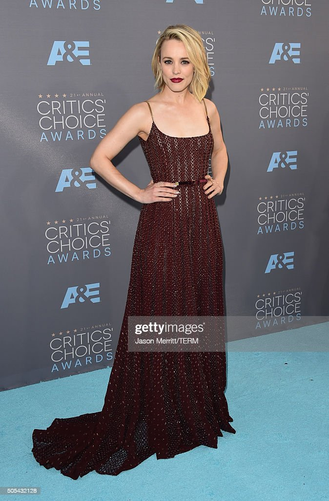Actress Rachel McAdams attends the 21st Annual Critics' Choice Awards at Barker Hangar on January 17 2016 in Santa Monica California