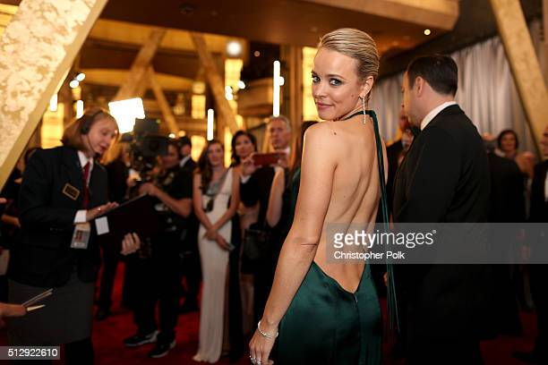 Actress Rachel McAdams attends the 88th Annual Academy Awards at Hollywood Highland Center on February 28 2016 in Hollywood California