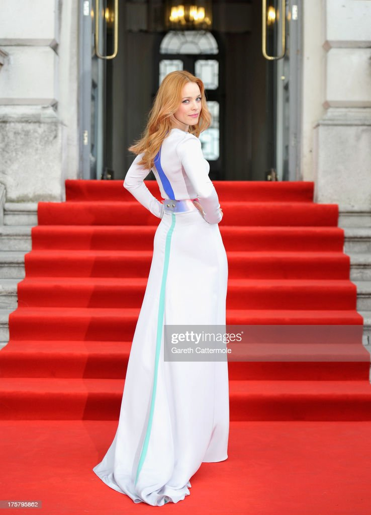Actress <a gi-track='captionPersonalityLinkClicked' href=/galleries/search?phrase=Rachel+McAdams&family=editorial&specificpeople=212942 ng-click='$event.stopPropagation()'>Rachel McAdams</a> attends the 'About Time' world premiere at Somerset House on August 8, 2013 in London, England.