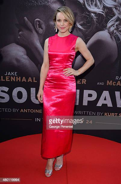 Actress Rachel McAdams attends the Canadian Premiere of 'Southpaw' at Scotiabank Theatre on July 9 2015 in Toronto Canada