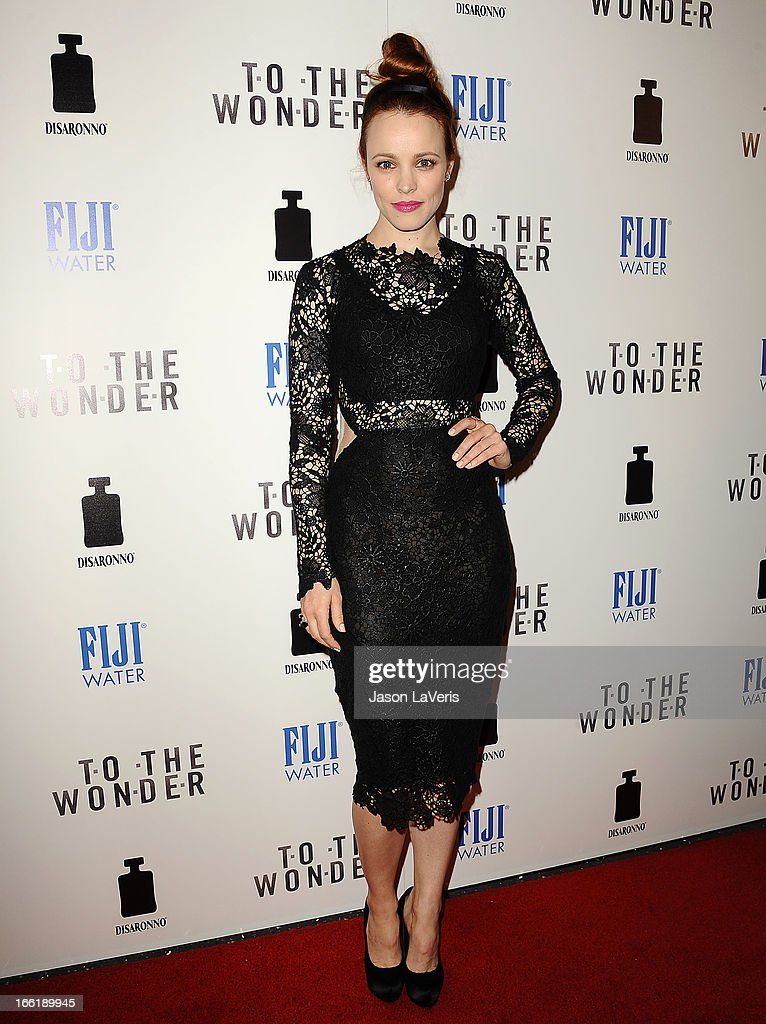 Actress <a gi-track='captionPersonalityLinkClicked' href=/galleries/search?phrase=Rachel+McAdams&family=editorial&specificpeople=212942 ng-click='$event.stopPropagation()'>Rachel McAdams</a> attends the premiere of 'To The Wonder' at Pacific Design Center on April 9, 2013 in West Hollywood, California.