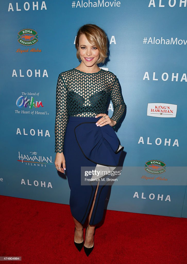 Actress Rachel McAdams attends the special screening of Columbia Pictures' 'ALOHA' at The London West Hollywood on May 27 2015 in West Hollywood...