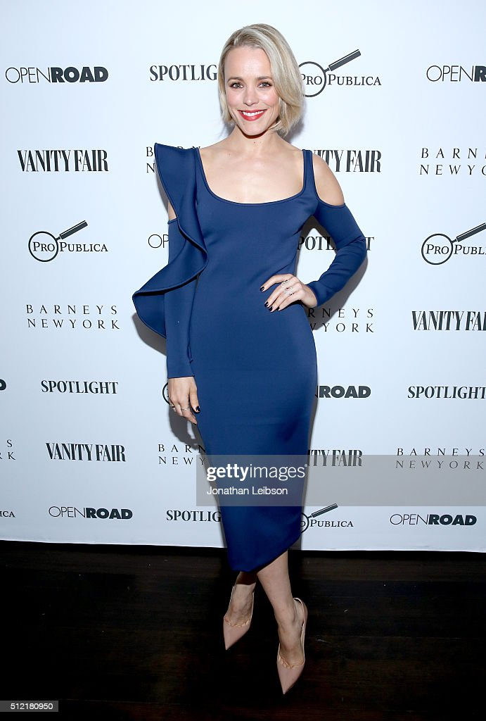 Actress Rachel McAdams attends Vanity Fair and Barneys New York Private Dinner Celebrating 'Spotlight' Director Tom McCarthy at Chateau Marmont on...