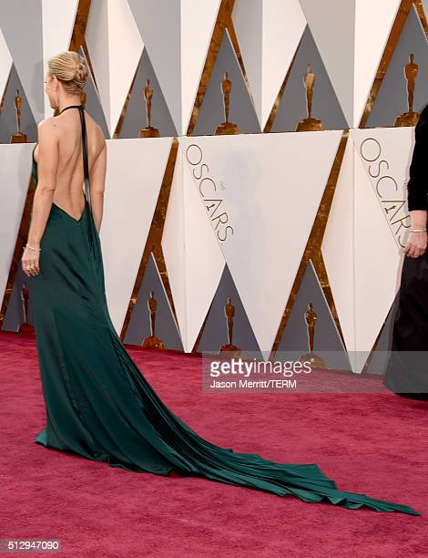 Actress Rachel McAdams back detail attends the 88th Annual Academy Awards at Hollywood Highland Center on February 28 2016 in Hollywood California
