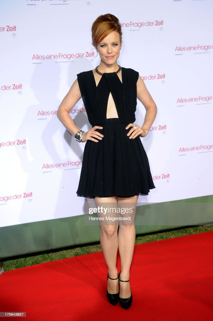 Actress Rachel McAdams poses at the red carpet during the Universal Open Air Film Lounge with the special screening of 'Alles eine Frage der Zeit' at...
