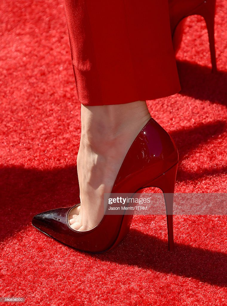 Actress Rachel McAdams shoe detail attends The 2015 ESPYS at Microsoft Theater on July 15 2015 in Los Angeles California