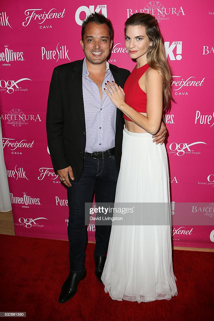 Actress Rachel McCord (R) and Rick Schirmer arrive at the OK! Magazine's So Sexy LA at the Skybar at Mondrian on May 18, 2016 in West Hollywood, California.
