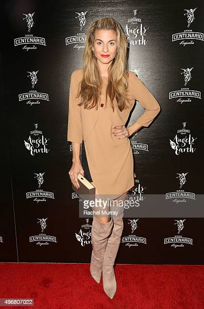 Actress Rachel McCord attends Gran Centenario Tequila presents Angels On Earth at the Sunset Tower on November 11 2015 in West Hollywood California