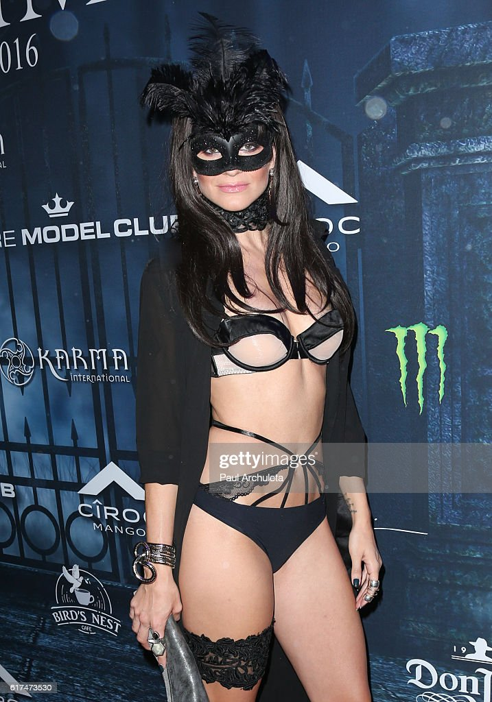 Actress Rachel McCord attends Maxim Magazine's annual Halloween party on October 22, 2016 in Los Angeles, California.