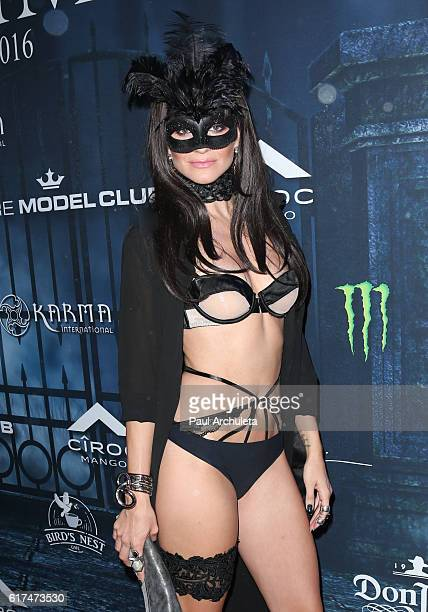 Actress Rachel McCord attends Maxim Magazine's annual Halloween party on October 22 2016 in Los Angeles California