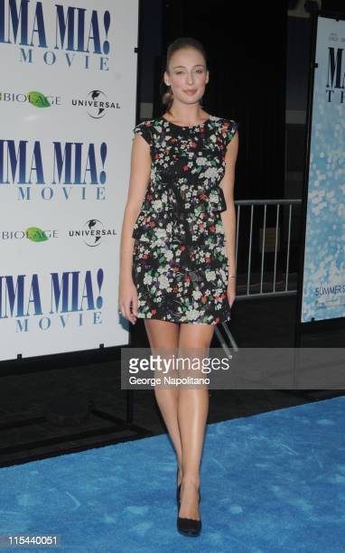 Actress Rachel McDowall attends the premiere of 'Mamma Mia' at the Ziegfeld Theatre on July 16 2008 in New York City