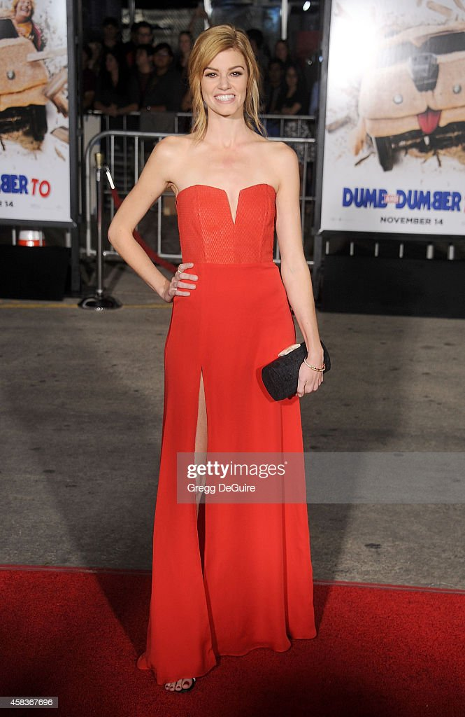 Actress <a gi-track='captionPersonalityLinkClicked' href=/galleries/search?phrase=Rachel+Melvin&family=editorial&specificpeople=594120 ng-click='$event.stopPropagation()'>Rachel Melvin</a> arrives at the Los Angeles premiere of 'Dumb And Dumber To' at Regency Village Theatre on November 3, 2014 in Westwood, California.