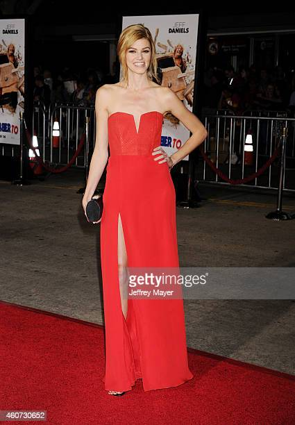 Actress Rachel Melvin arrives at the Los Angeles premiere of 'Dumb And Dumber To' at Regency Village Theatre on November 3 2014 in Westwood California