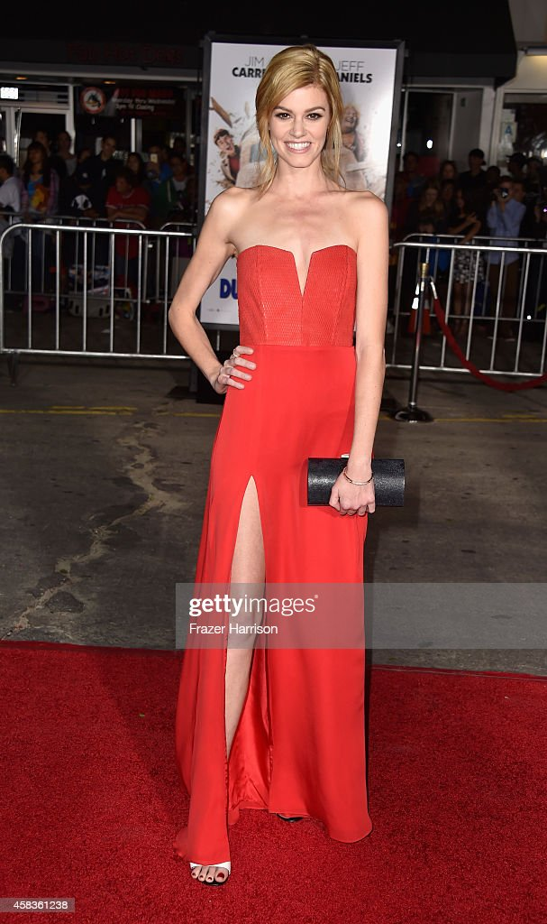 Actress <a gi-track='captionPersonalityLinkClicked' href=/galleries/search?phrase=Rachel+Melvin&family=editorial&specificpeople=594120 ng-click='$event.stopPropagation()'>Rachel Melvin</a> arrives at the premiere of Universal Pictures and Red Granite Pictures' 'Dumb And Dumber To' on November 3, 2014 in Westwood, California.