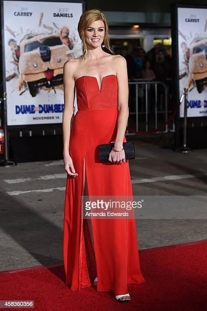 Actress Rachel Melvin arrives at the world premiere of 'Dumb And Dumber To' at the Regency Village Theatre on November 3 2014 in Westwood California