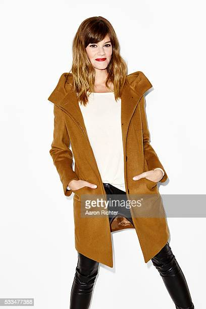 Actress Rachel Melvin is photographed for Aritzia #FallForUs in 2014 in New York City PUBLISHED IMAGE