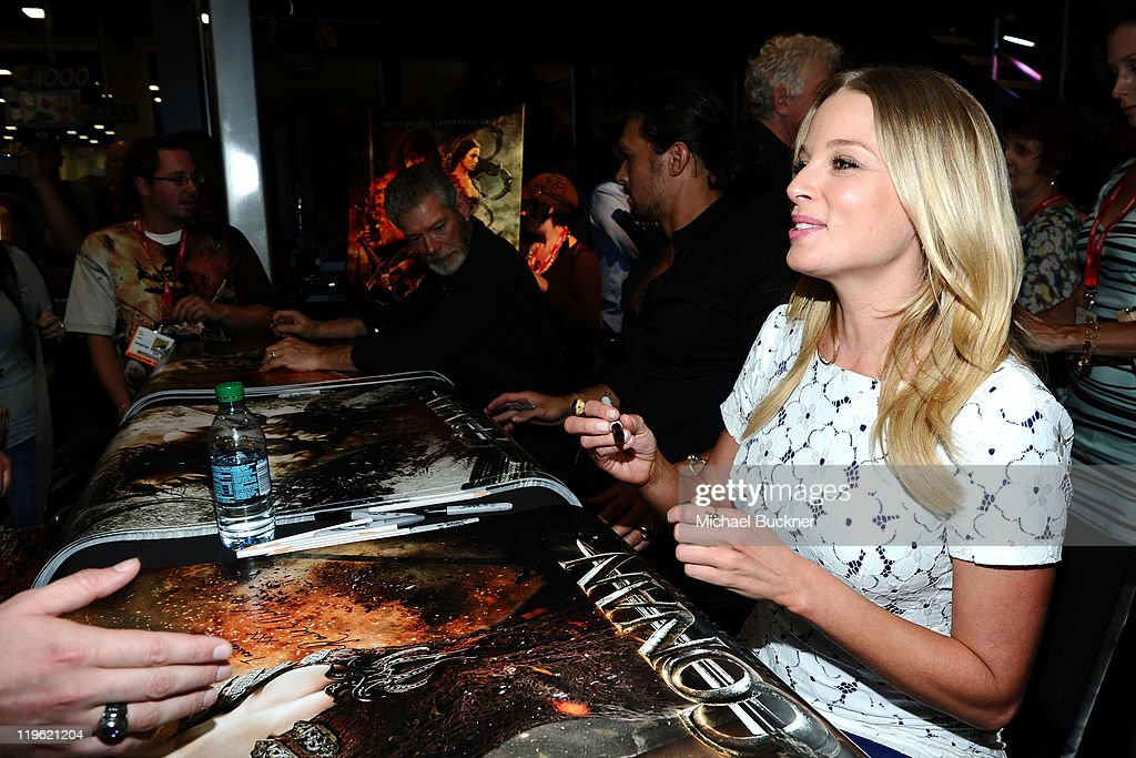Actress Rachel Nichols attends 'Conan The Barbarian' Autograph Signing during Comic-Con 2011 on July 22, 2011 in San Diego, California.