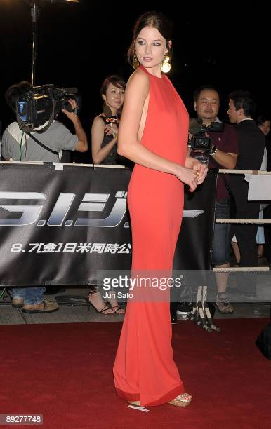 Actress Rachel Nichols attends the 'GI Joe The Rise Of Cobra' Japan Premiere at Lalaport Toyosu on July 27 2009 in Tokyo Japan The film will open on...