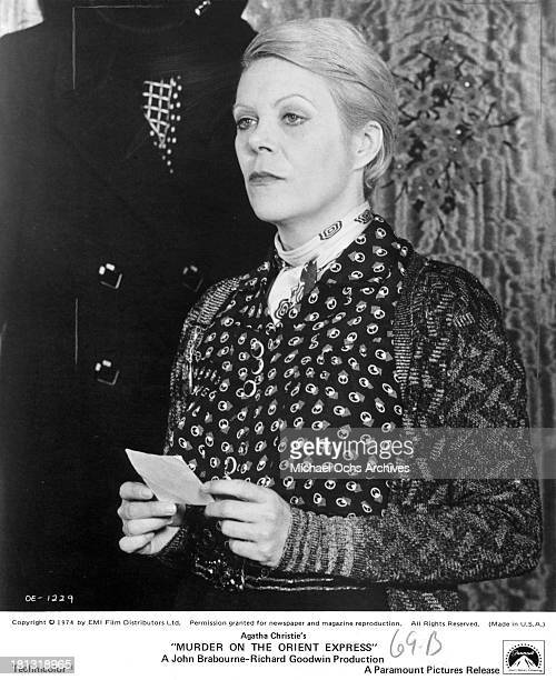 Actress Rachel Roberts on the set of the Paramount Pictures movie 'Murder on the Orient Express' in 1974