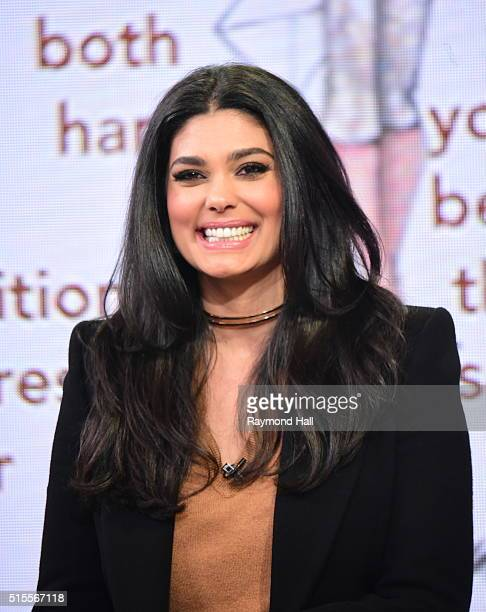 Actress Rachel Roy is seen on the set of 'Good Morning America'on March 14 2016 in New York City