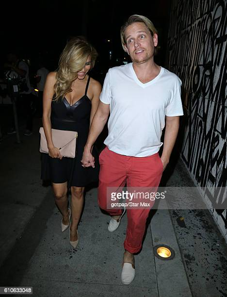 Actress Rachel Sterling and dancer Damian Whitewood are seen on September 26 2016 in Los Angeles California