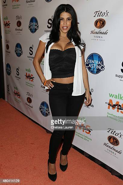 Actress Rachel Sterling arrives at the LA celebrity MS Walk kickoff event at SupperClub Los Angeles on March 24 2014 in Los Angeles California