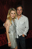 Actress Rachel Taylor and Jason Trawick attend Frank Miller's birthday party at CatHouse at Luxor on February 9 2008 in Las Vegas Nevada