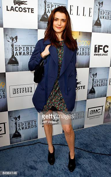 Actress Rachel Weisz arrives at Film Independent's 2009 Independent Spirit Awards held at the Santa Monica Pier on February 21 2009 in Santa Monica...
