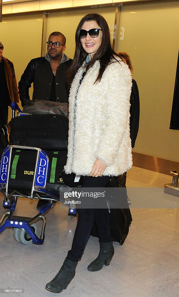 Actress Rachel Weisz arrives at Narita International Airport on February 19, 2013 in Narita, Japan.