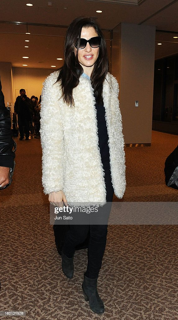 Actress Rachel Weisz arrives at Narita International Airport on February 19, 2013 in Narita, Japan.
