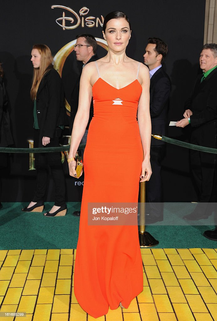 Actress Rachel Weisz arrives at the Los Angeles Premiere 'Oz The Great and Powerful' at the El Capitan Theatre on February 13, 2013 in Hollywood, California.