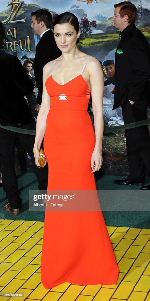 Actress Rachel Weisz arrives for The Premiere Of Walt Disney Pictures' 'Oz The Great And Powerful' held at The El Capitan Theater on October 6, 2013 in Hollywood, California.