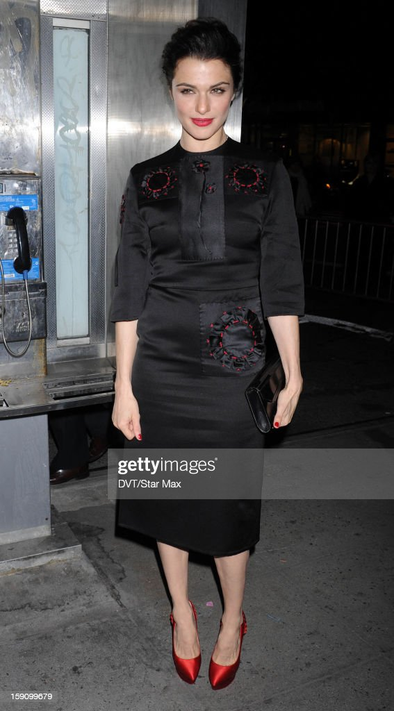Actress Rachel Weisz as seen on January 7, 2013 in New York City.