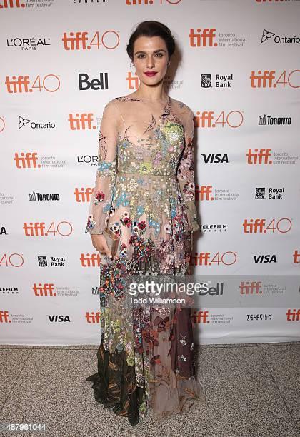 Actress Rachel Weisz attends Fox Searchlight's 'Youth' Toronto International Film Festival special presentation on September 12 2015 in Toronto Canada