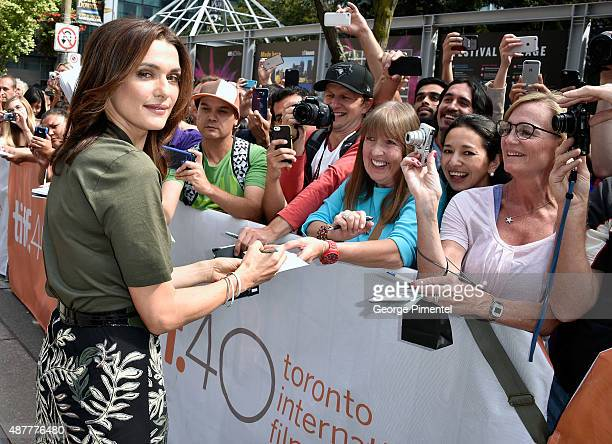 Actress Rachel Weisz attends 'The Lobster' premiere during the 2015 Toronto International Film Festival at Princess of Wales Theatre on September 11...