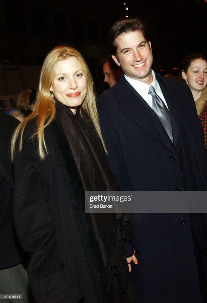 Actress Rachel York and boyfriend Ayal Miodovnik arrive for the premiere production of 'Brooklyn Boy' at the Biltmore Theatre on February 3, 2005 in New York City.