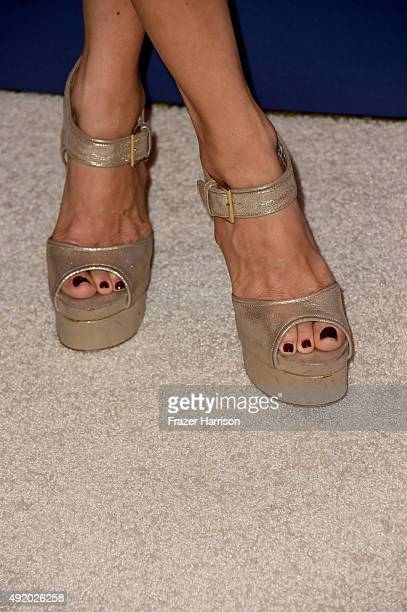 Actress Rachel Zoe shoe detail attends Variety's Power Of Women Luncheon at the Beverly Wilshire Four Seasons Hotel on October 9 2015 in Beverly...