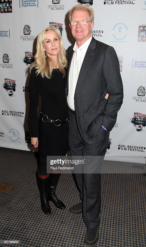 Actress Rachelle Carson and actor Ed Begley Jr. arrive at Writers In Treatment's 4th Annual Experience, Strength And Hope Awards at Skirball Cultural Center on February 15, 2013 in Los Angeles, California.
