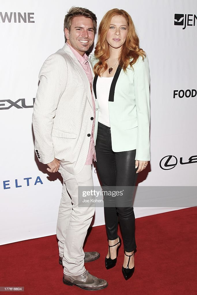 Actress Rachelle Lefevre and actor Jamie Thomas King attend LEXUS Live On Grand At The 3rd Annual Los Angeles Food & Wine Festival on August 24, 2013 in Los Angeles, California.