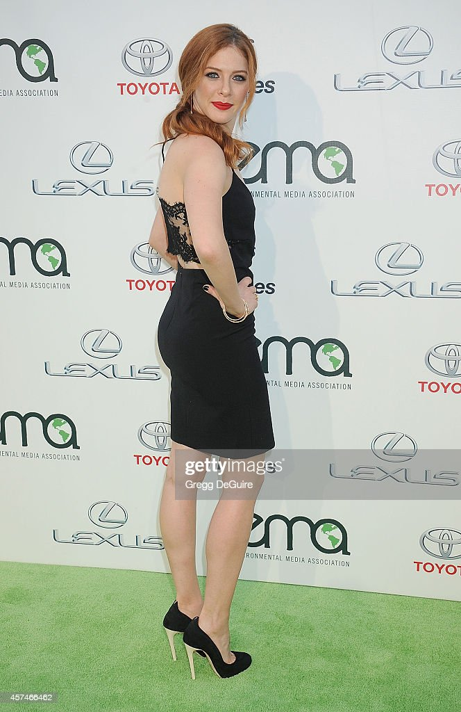 Actress Rachelle Lefevre arrives at the 2014 Environmental Media Awards at Warner Bros. Studios on October 18, 2014 in Burbank, California.