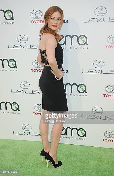 Actress Rachelle Lefevre arrives at the 2014 Environmental Media Awards at Warner Bros Studios on October 18 2014 in Burbank California