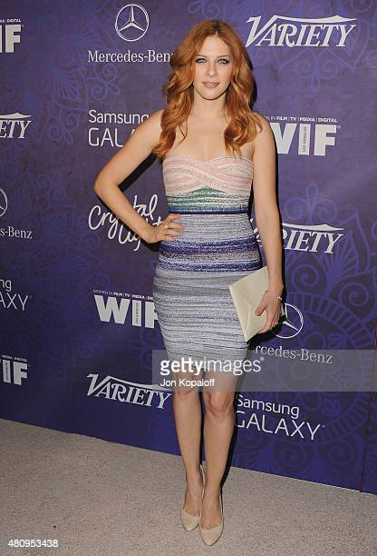 Actress Rachelle Lefevre arrives at Variety And Women In Film Annual PreEmmy Celebration at Gracias Madre on August 23 2014 in West Hollywood...