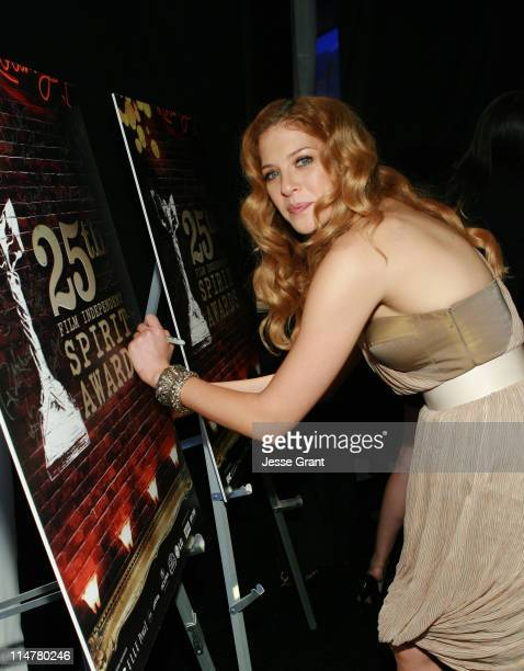 COVERAGE** Actress Rachelle Lefevre attends at The 25th Spirit Awards Official Gift Lounge Produced by On 3 Productions held at Nokia Theatre LA Live...