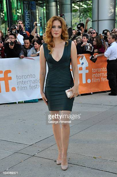 Actress Rachelle Lefevre attends 'Barney's Version' Premiere during the 35th Toronto International Film Festival at Roy Thomson Hall on September 12...