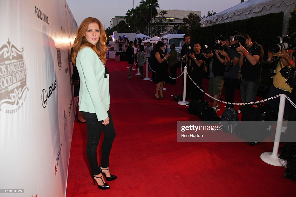 Actress <a gi-track='captionPersonalityLinkClicked' href=/galleries/search?phrase=Rachelle+Lefevre&family=editorial&specificpeople=2538883 ng-click='$event.stopPropagation()'>Rachelle Lefevre</a> attends LEXUS Live on Grand hosted by Curtis Stone at the third annual Los Angeles Food & Wine Festival on August 24, 2013 in Los Angeles, California.
