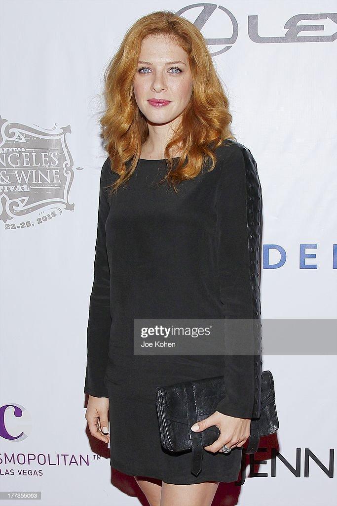 Actress Rachelle Lefevre attends the 2013 Los Angeles Food & Wine Festival 'Festa Italiana With Giada De Laurentiis' Opening Night Gala on August 22, 2013 in Los Angeles, California.