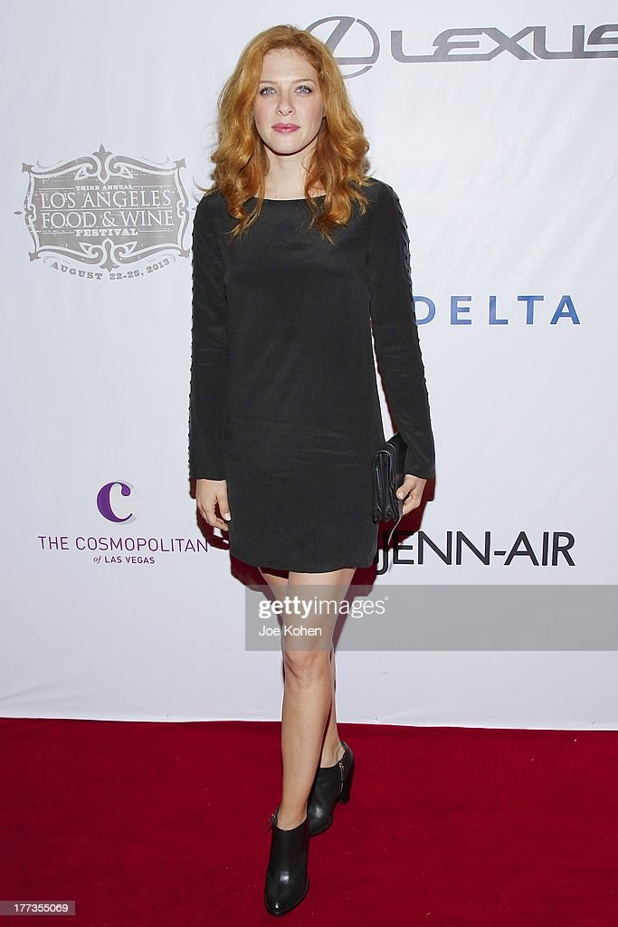 Actress Rachelle Lefevre attends the 2013 Los Angeles Food & Wine Festival 'Festa Italiana With Giada De Laurentiis' Opening Night Gala on August 22, 2013 in Los Angeles, California.
