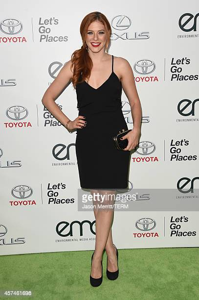 Actress Rachelle Lefevre attends the 24th Annual Environmental Media Awards presented by Toyota and Lexus at Warner Bros Studio on October 18 2014 in...