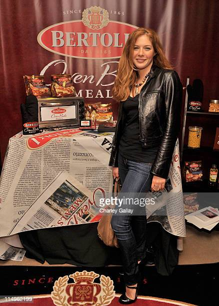 Actress Rachelle Lefevre attends the Bertolli Oven Bake Meals at the Access Hollywood 'Stuff You Must' Lounge produced by On 3 Productions held at...